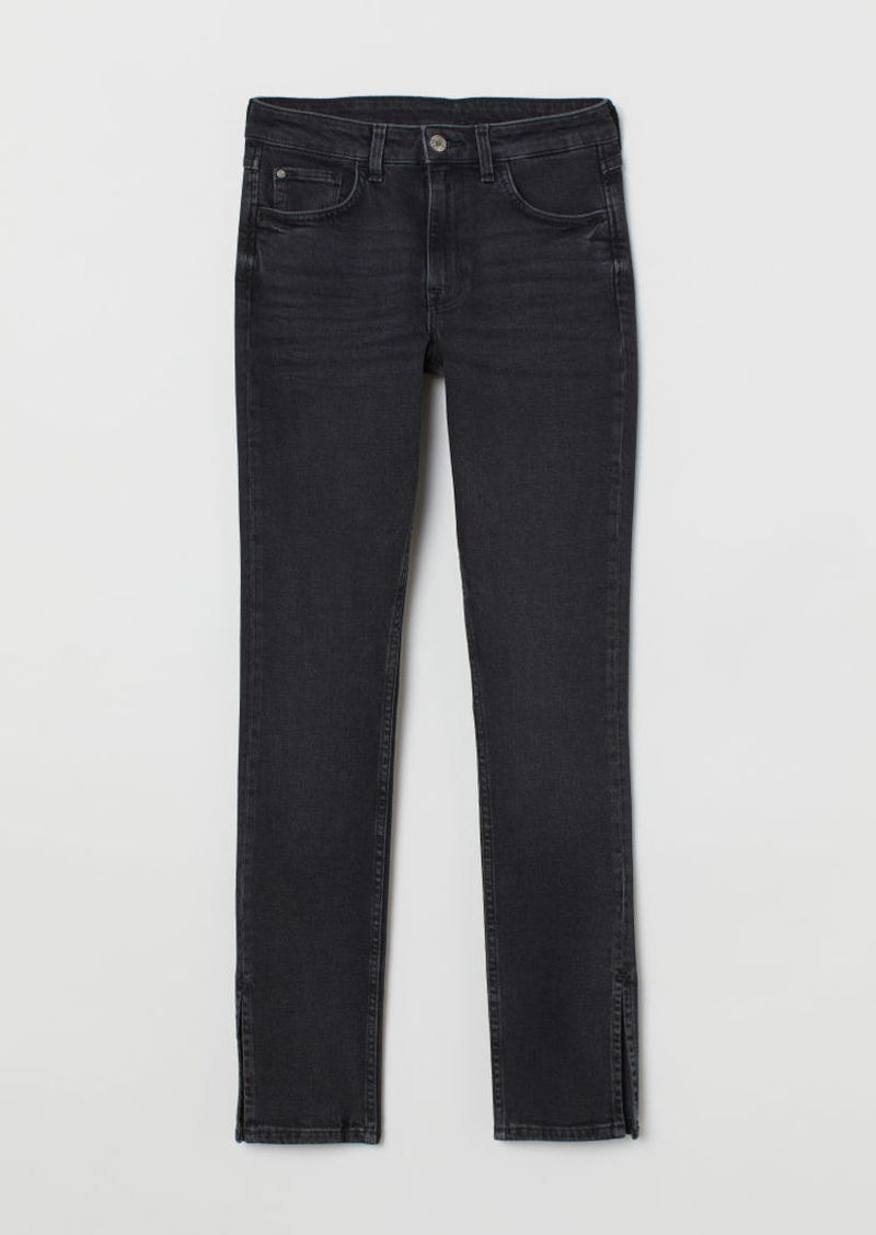 H & M - Skinny High Jeans - Black