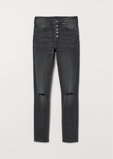 H&M H & M - Skinny High Jeans - Black