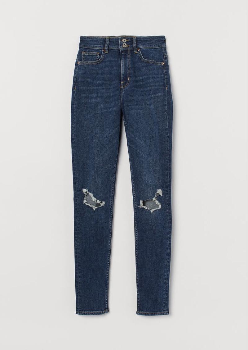 H&M H & M - Skinny High Waist Jeans - Blue