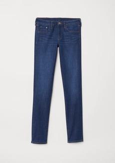 H&M H & M - Skinny Low Jeans - Blue