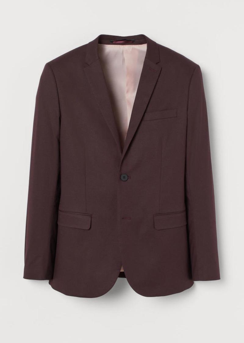 H&M H & M - Skinny Lyocell-blend Blazer - Red