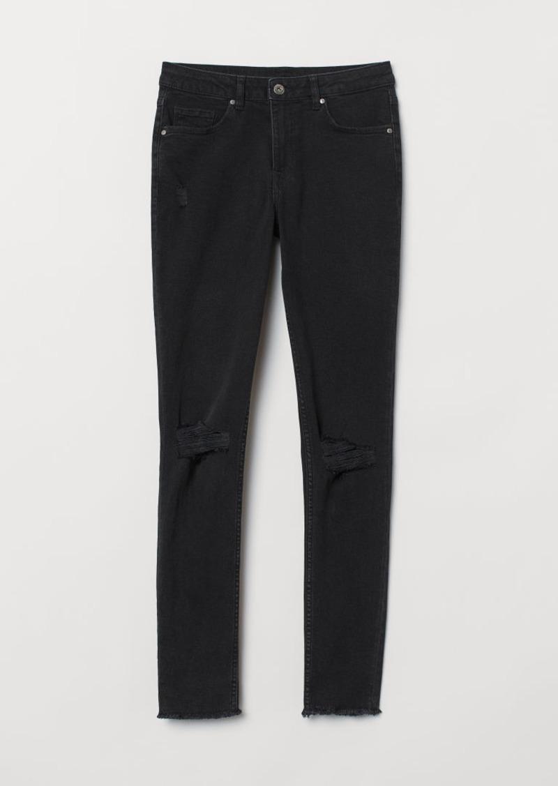 H&M H & M - Skinny Regular Ankle Jeans - Gray