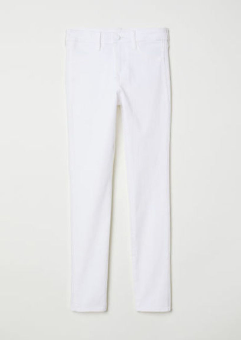 H&M H & M - Skinny Regular Ankle Jeans - White