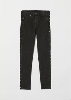 H&M H & M - Skinny Regular Jeans - Black
