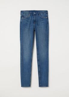 H&M H & M - Skinny Regular Jeans - Blue