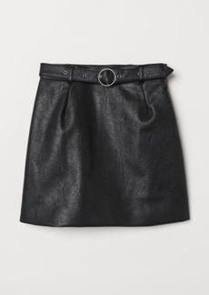 H&M H & M - Skirt with Belt - Black