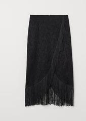 H&M H & M - Skirt with Fringe - Black