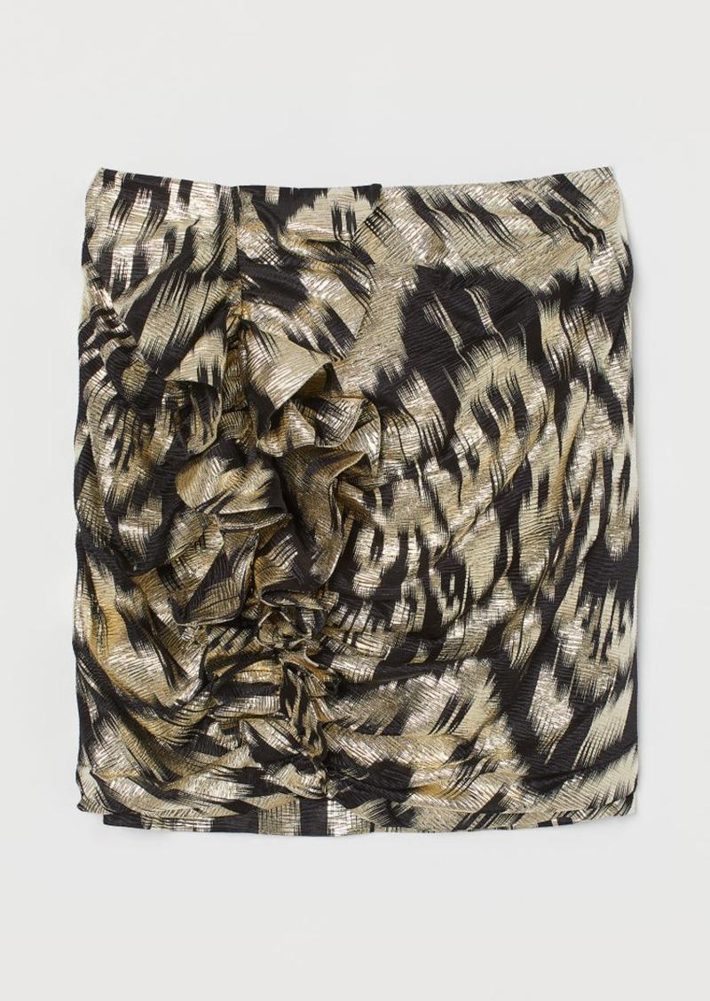 H&M H & M - Skirt with Ruffles - Black