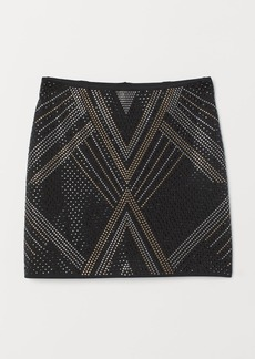 H&M H & M - Skirt with Studs - Black