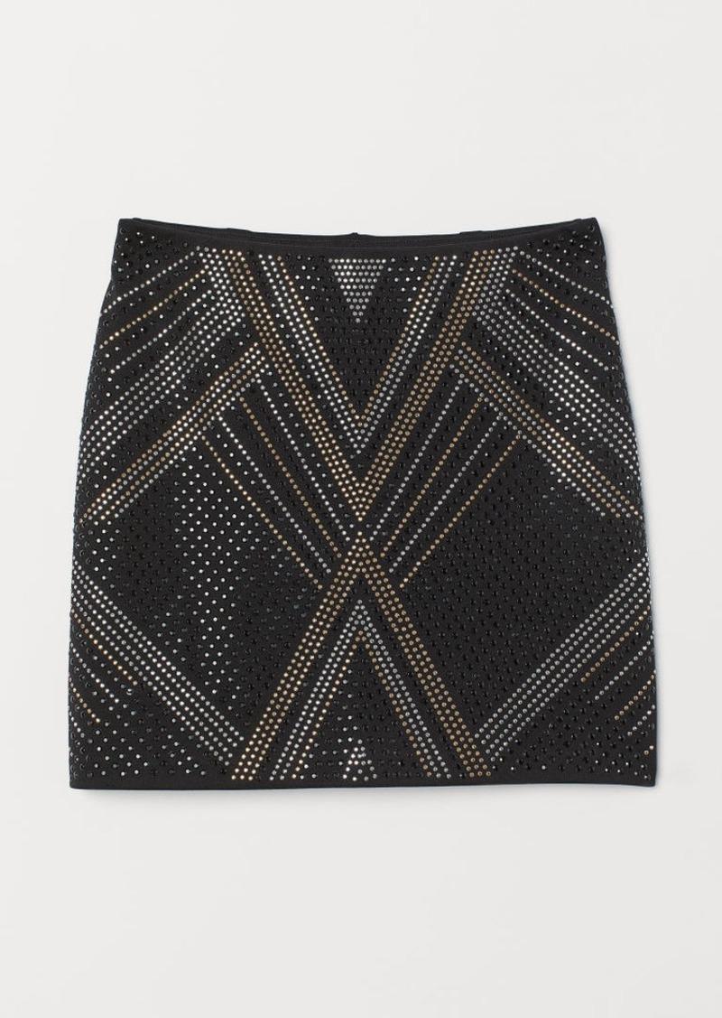 H&M H & M - Skirt with Studs - Black