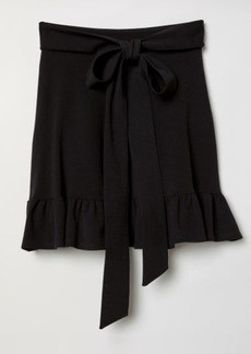 H&M H & M - Skirt with Ties - Black
