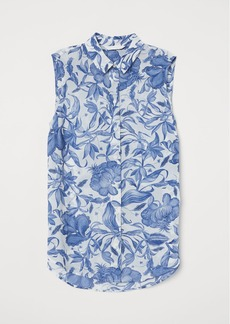 H&M H & M - Sleeveless Blouse - Blue