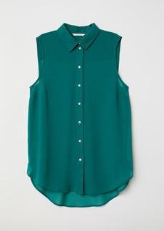 H&M H & M - Sleeveless Blouse - Green