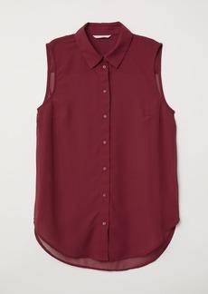 H&M H & M - Sleeveless Blouse - Red