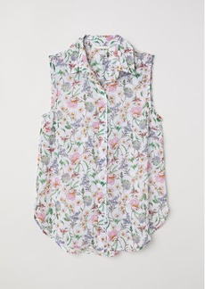 H&M H & M - Sleeveless Blouse - White