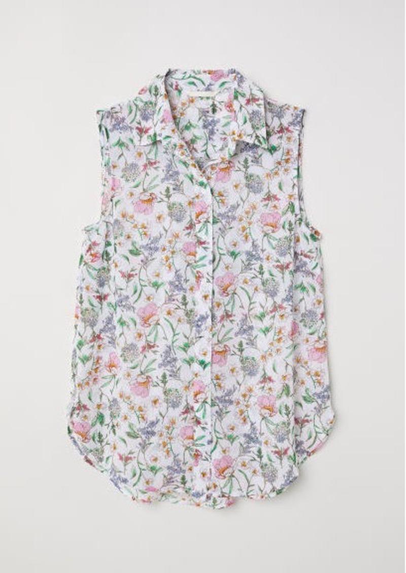 H&M H & M - Sleeveless Blouse - White