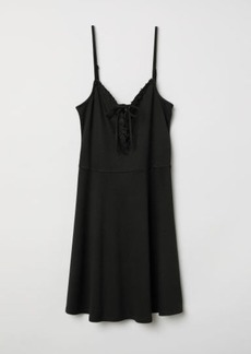 H&M H & M - Sleeveless Dress - Black