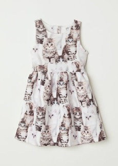 H&M H & M - Sleeveless Dress - White