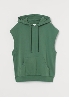 H&M H & M - Sleeveless Hoodie - Green