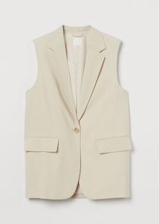 H&M H & M - Sleeveless Jacket - Beige