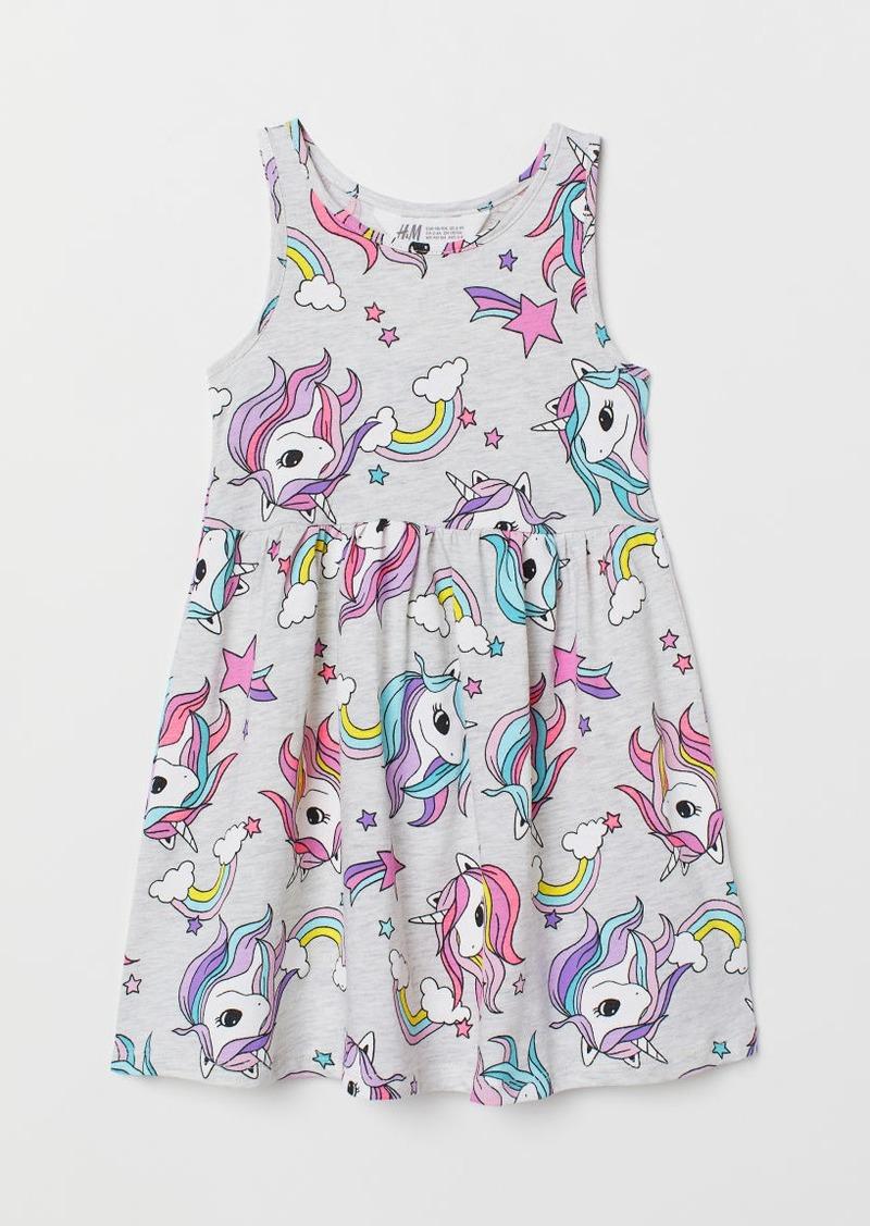 H&M H & M - Sleeveless Jersey Dress - Gray