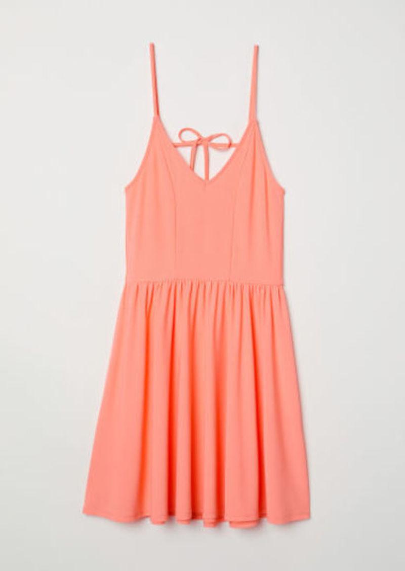 7ca9ad7b60319 On Sale today! H M H   M - Sleeveless Jersey Dress - Orange