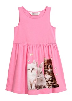 H&M H & M - Sleeveless Jersey Dress - Pink