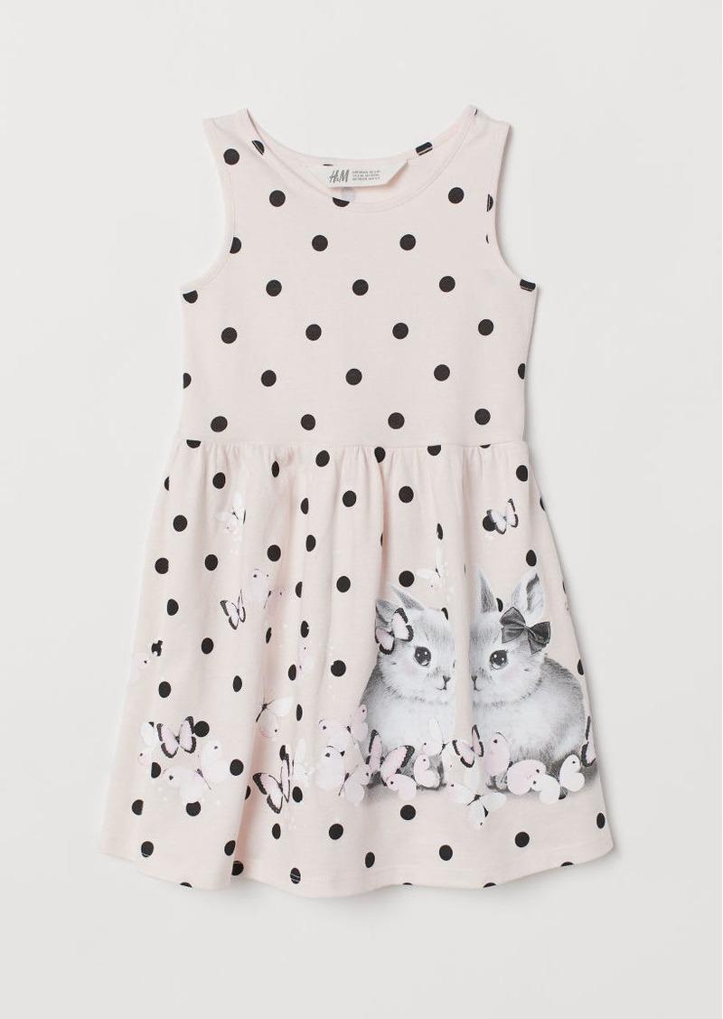 H&M H & M - Sleeveless Jersey Dress - Pink