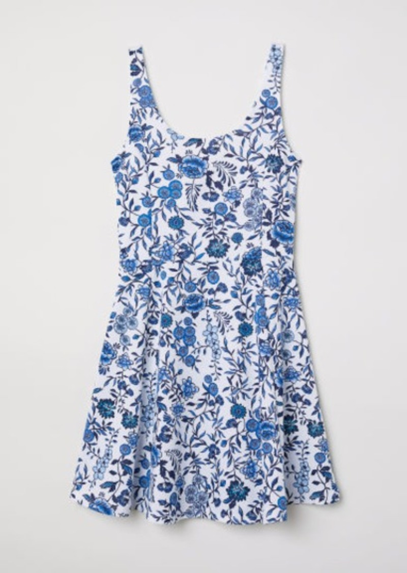 fdc4e3be39360 H M H   M - Sleeveless Jersey Dress - White Now  8.99