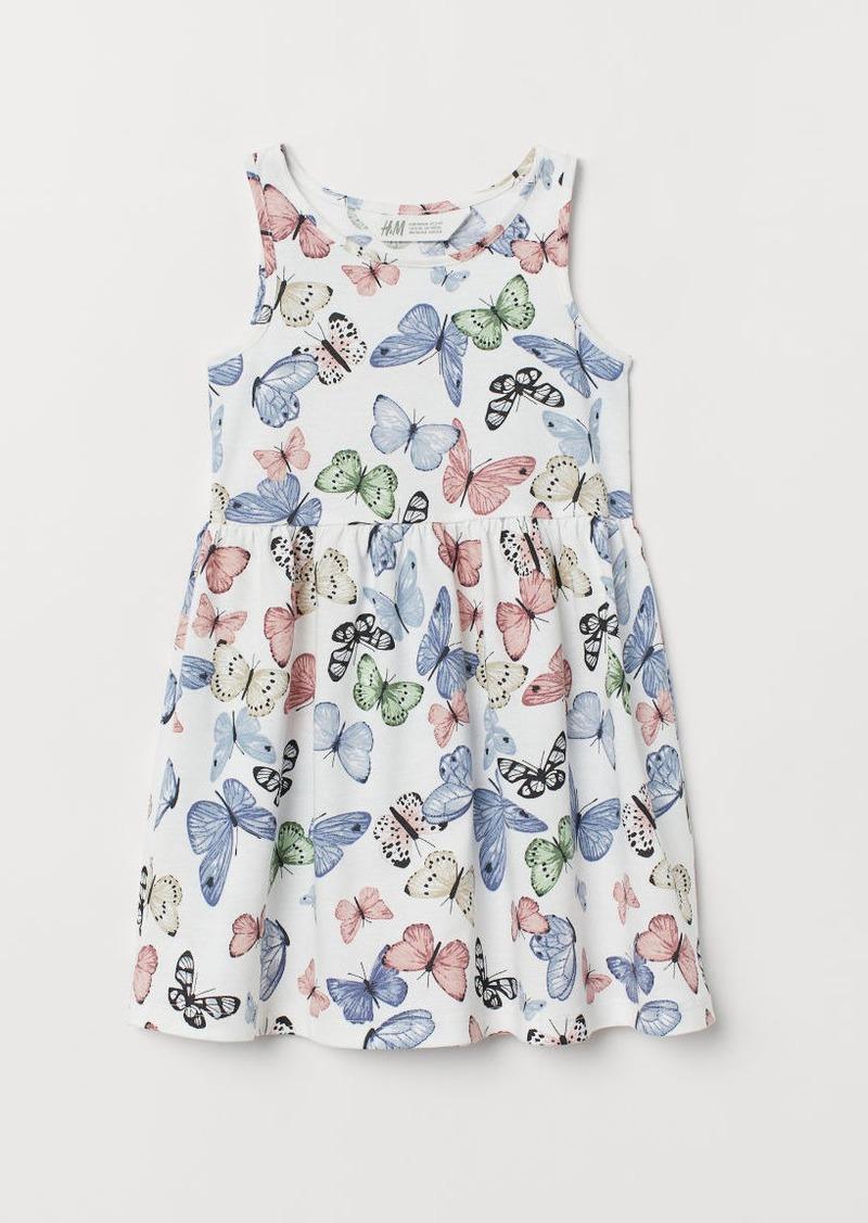 H&M H & M - Sleeveless Jersey Dress - White
