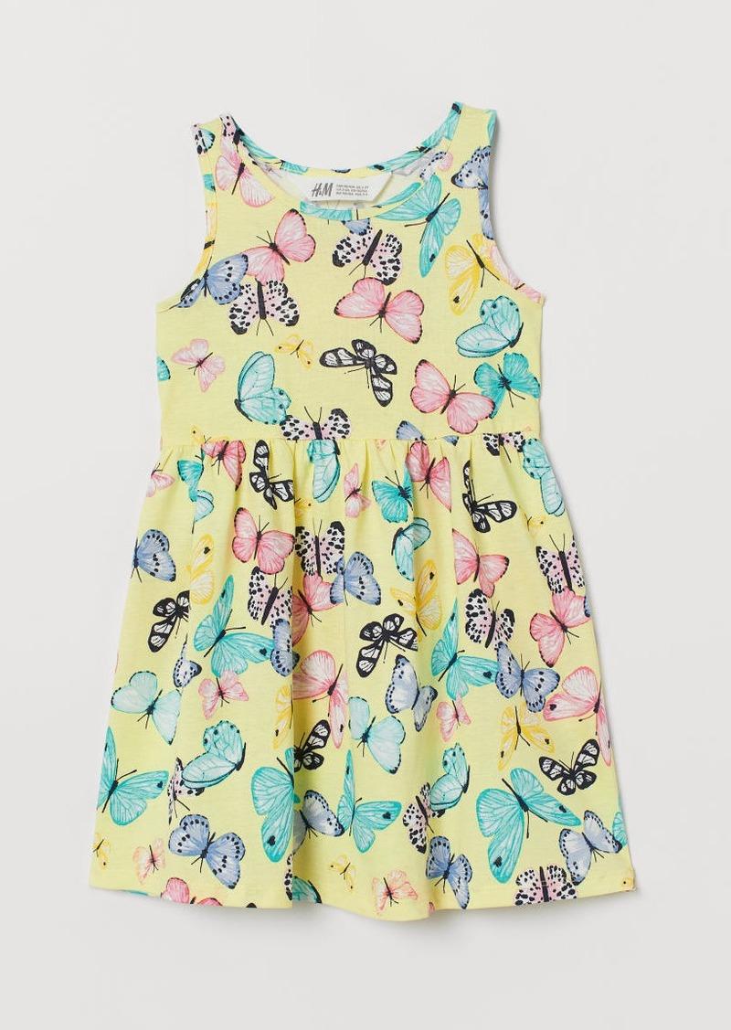 H&M H & M - Sleeveless Jersey Dress - Yellow