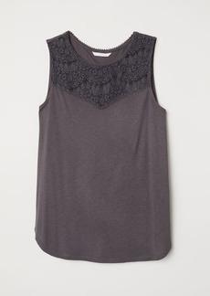 H&M H & M - Sleeveless Jersey Top - Gray