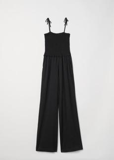 H&M H & M - Sleeveless Jumpsuit - Black