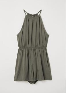 H&M H & M - Sleeveless Jumpsuit - Green