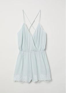 H&M H & M - Sleeveless Jumpsuit - Turquoise