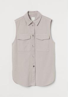 H&M H & M - Sleeveless Shirt Jacket - Purple