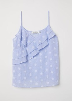 H&M H & M - Sleeveless Top - Blue