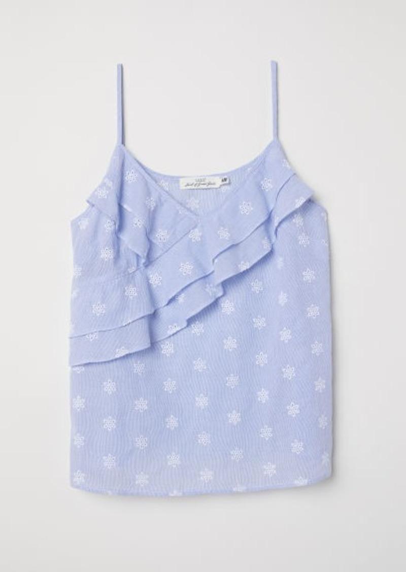 H&M H & M - Sleeveless Top - Blue