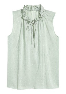 H&M H & M - Sleeveless Top - Turquoise