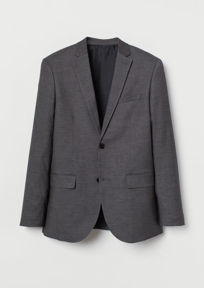 H&M H & M - Slim Fit Blazer - Gray