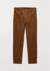 H&M H & M - Slim Fit Corduroy Pants - Beige