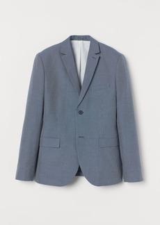 H&M H & M - Slim Fit Cotton Blazer - Blue