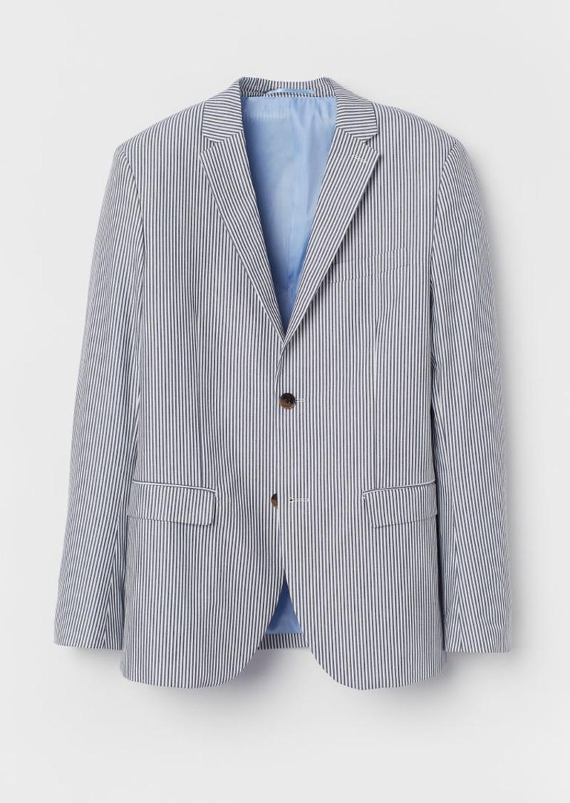 H&M H & M - Slim Fit Cotton Blazer - White