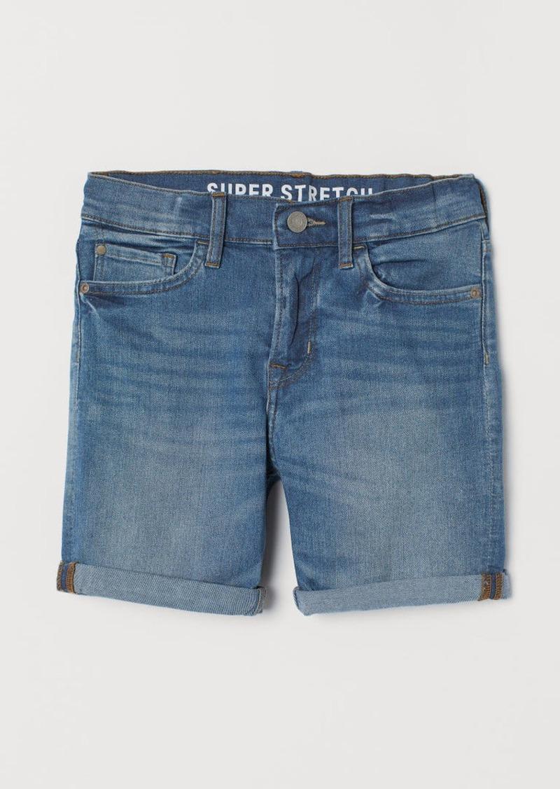 H&M H & M - Slim Fit Denim Shorts - Blue