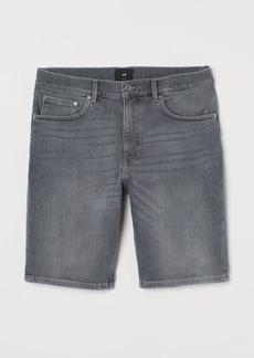 H&M H & M - Slim Fit Denim Shorts - Gray