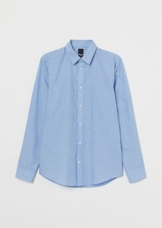 H&M H & M - Slim Fit Easy-iron Shirt - Blue