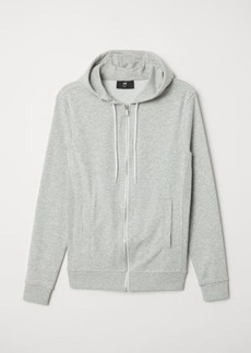 H&M H & M - Slim Fit Hooded Jacket - Gray