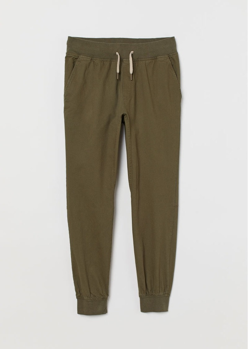 H&M H & M - Slim Fit Joggers - Green