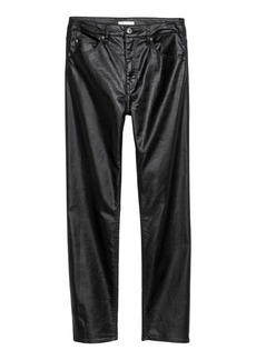 H&M H & M - Slim-fit Pants High waist - Black
