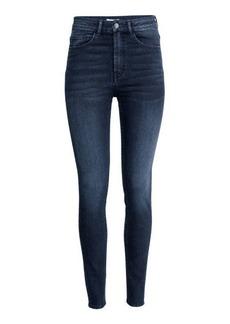 H&M H & M - Slim-fit Pants High waist - Blue
